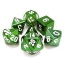 Metallo -Set di dadi Verde