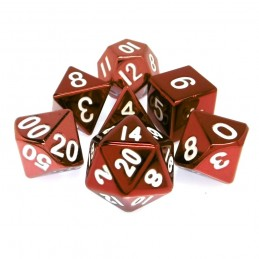 Metallo -Set di dadi Rosso