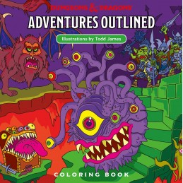 Dungeons & Dragons: Adventures Outlined (Libro da Colorare)