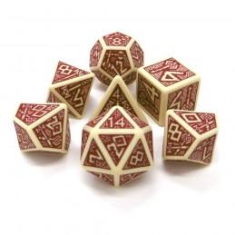 Nanici - Set di dadi (Beige / Rosso Borgogna)