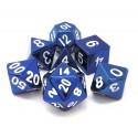 Metallo -Set di dadi Blu