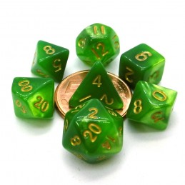 Set di dadi Mini: Verde / Verde Chiaro