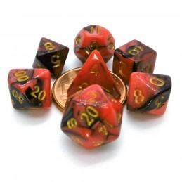 Set di dadi Mini: Rosso / Nero