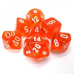 Trasparenti - Set di dadi (Arancione / Bianco)