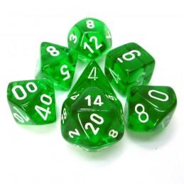 Trasparenti - Set di dadi (Verde / Bianco)
