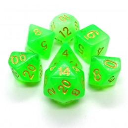 Opali - Set di dadi (Verde)