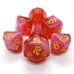 Opali - Set di dadi (Rosso)