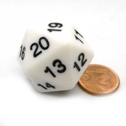 Countdown: Opaco - Dado a 20 facce da 30 mm Bianco