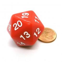 Countdown: Opaco - Dado a 20 facce da 30 mm Rosso
