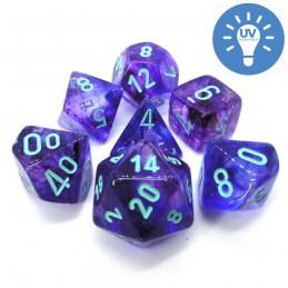 Nebulosa - Set di dadi (Notturno / Blu Chiaro)