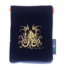 Sacchetto in Velluto con logo Cthulhu: Viola - 12,5 x 14 cm