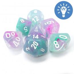 Nebula - Set di dadi (Glicine / Bianco)