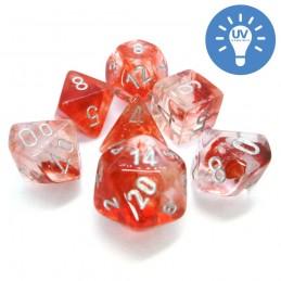Nebulosa - Set di dadi (Rosso / Argento)