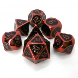 Metallo - Set di dadi Rosso / Smalto Nero