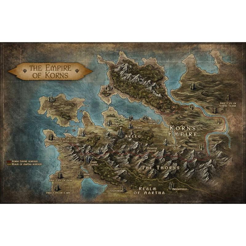No Lands: Mappa dell'Impero di Korns