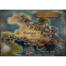 No Lands: Mappa della regione Est di Lathersia