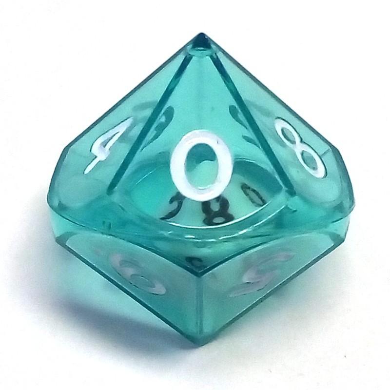 Dadi doppi - d10 singolo verde trasparente