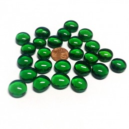 Pietrine segnapunti in vetro (Verde smeraldo)