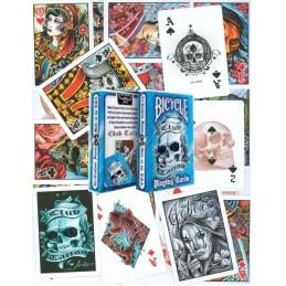 Bicycle: Carte da gioco Club Tattoo (Blue)
