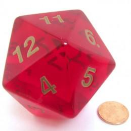 Countdown - Dado a 20 facce Rosso Rubino da 55 mm