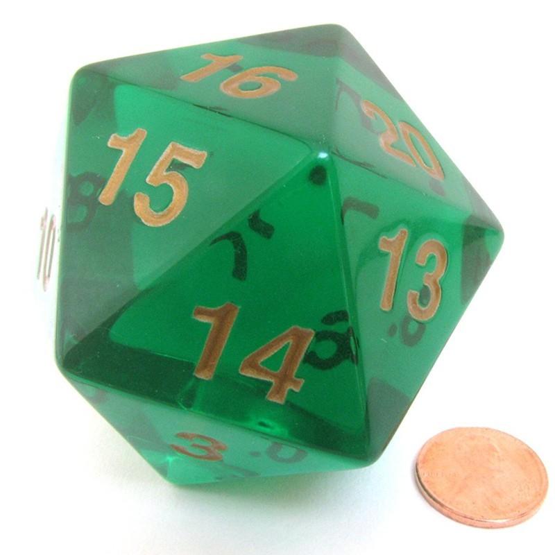 Countdown - Dado a 20 facce Verde Smeraldo da 55 mm