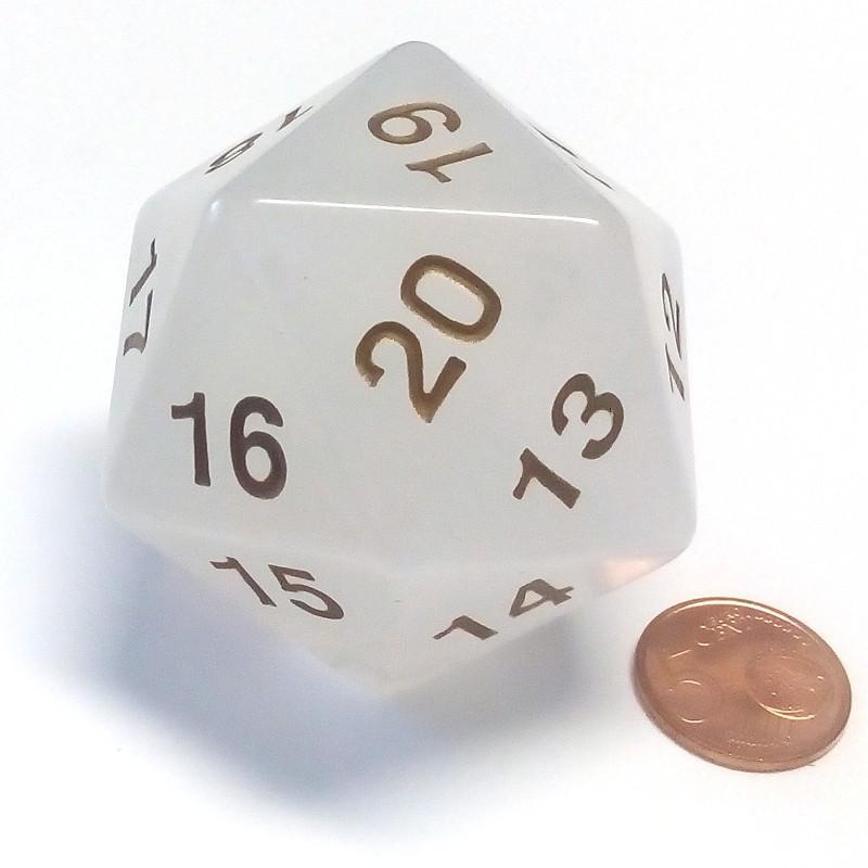 Countdown - Dado a 20 facce Oro Perla da 55 mm