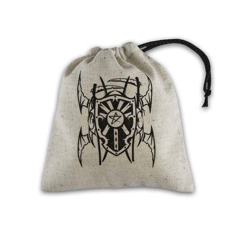 Sacchetto portadadi in stoffa con logo: Vampiro
