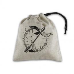 Sacchetto portadadi in stoffa con logo: Elfi - 11 x 11 cm
