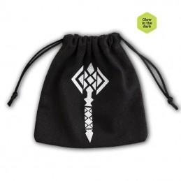 Sacchetto portadadi in stoffa con logo: Martello Nanico fosforescente - 11 x 11 cm