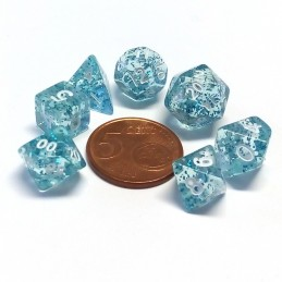 Mini - Set di dadi Eterei (Trasparente / Azzurro)