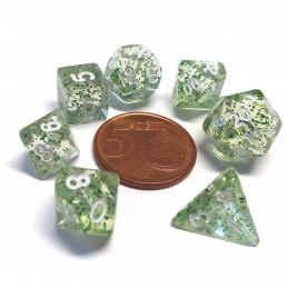 Mini - Set di dadi Eterei (Trasparente / Verde)