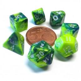 Mini - Set di dadi Toxic (Verde / Argento)