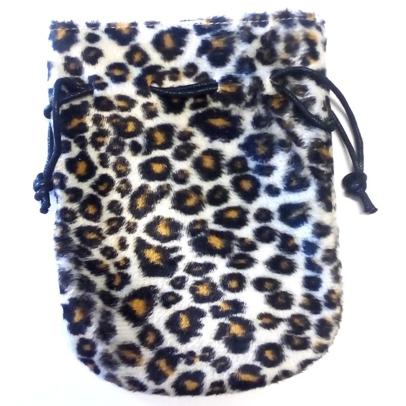 Sacchetto in similpelle di leopardo: 11 x 15 cm
