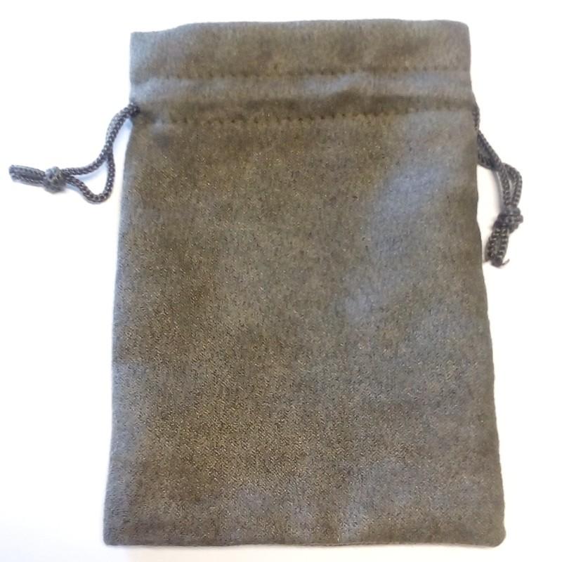 Sacchetto in micro pelle scamosciata: 10 x 14 cm