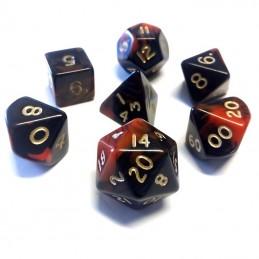 Oblivion - Set di dadi (Rosso / Oro)