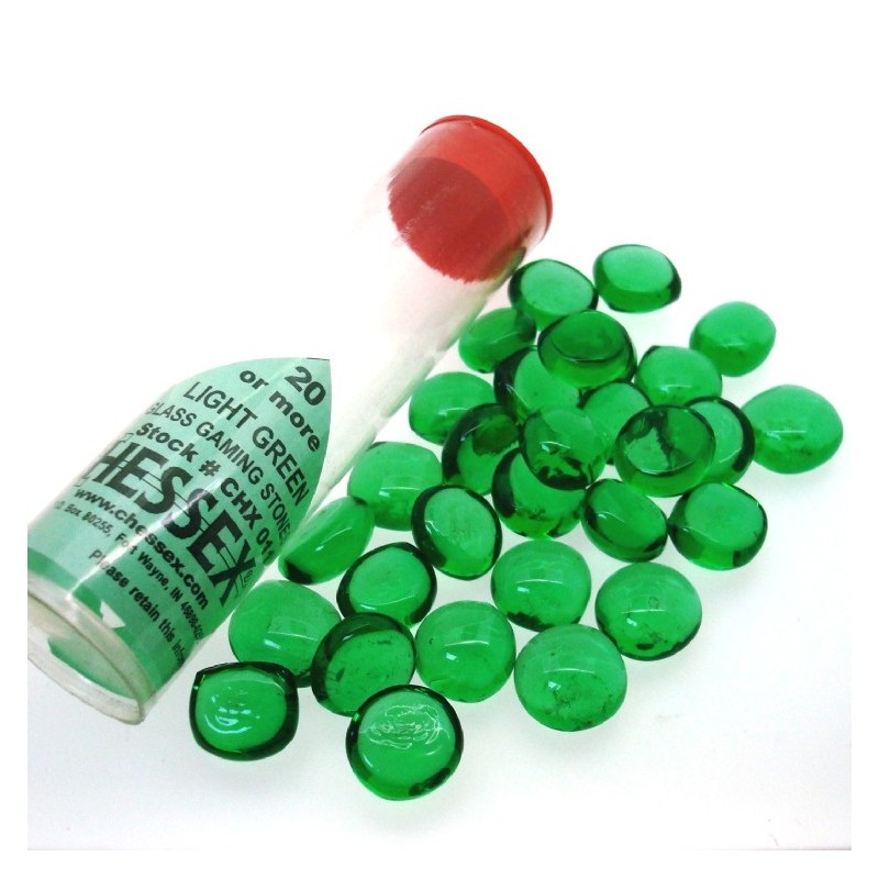 Pietrine segnapunti in vetro (Verde chiaro)