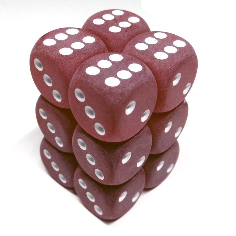 Ghiacciati - Set di dadi 12d6 (Rosso / Bianco)