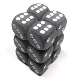 Ghiacciati - Set di dadi 12d6 (Grigio / Bianco)