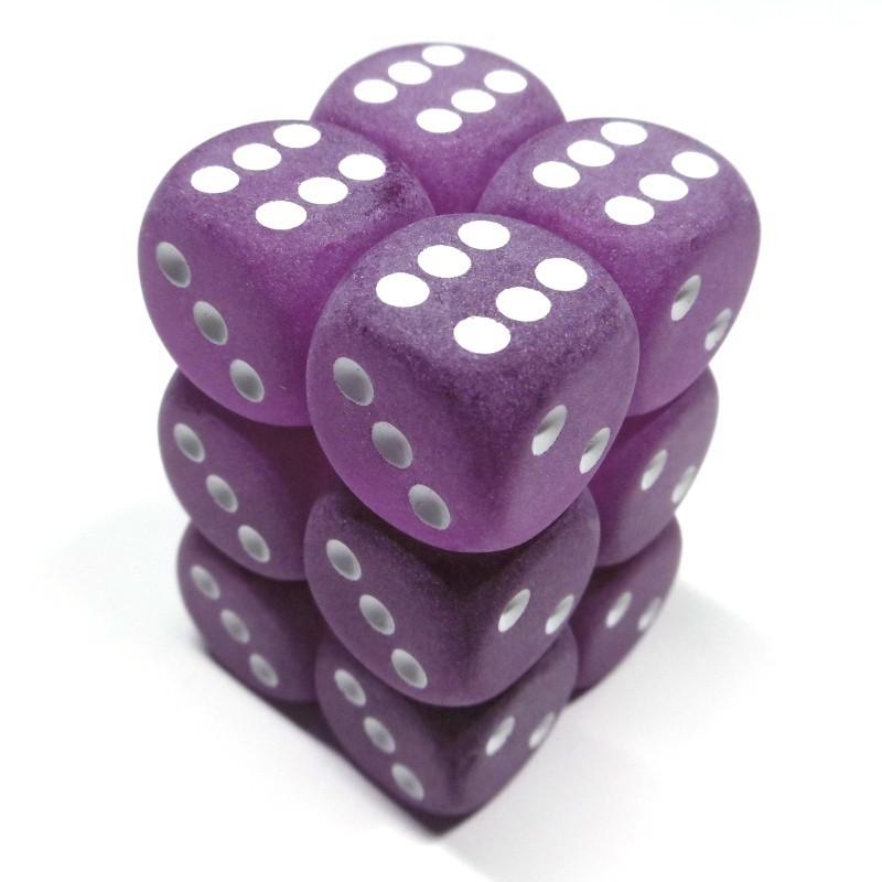 Ghiacciati - Set di dadi 12d6 (Viola / Bianco)