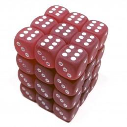 Ghiacciati - Set di dadi 36d6 (Rosso / Bianco)