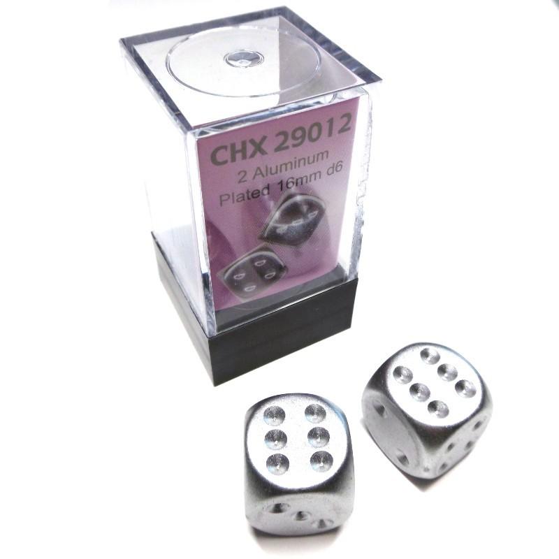 Placcati - Set di 2d6 (Alluminio)