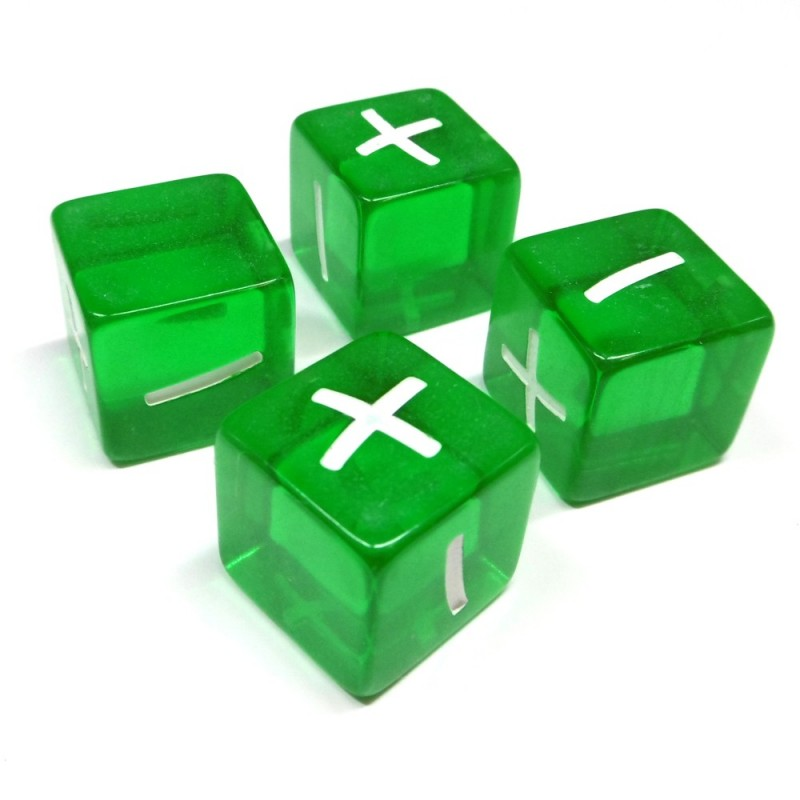 Set di dadi: Trasparente verde