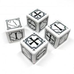 Fate: Set di dadi antichi (Bianco-Nero