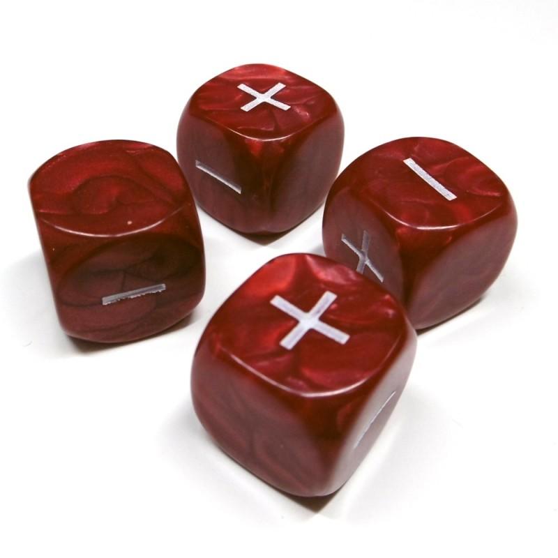 Fate: Set di dadi perlati (Rosso)