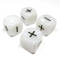Fate: Set di dadi perlati (Bianco)