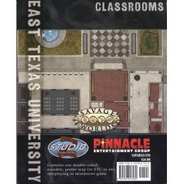 East Texas University Map: Aule / Esterno dormitorio del Campus