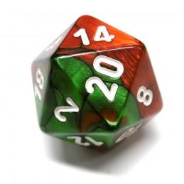 Gemini - Set di dadi (Verde-Rosso / Bianco)