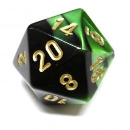 Gemini - Set di dadi (Nero-Verde / Verde)