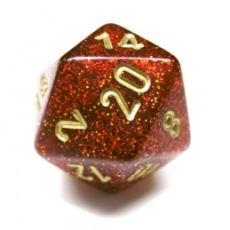 Glitter - Set di dadi (Rubino / Oro)