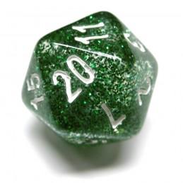 Glitter - Set di dadi (Verde / Bianco)